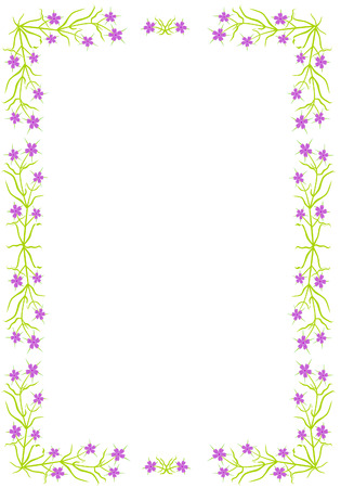 herbalist: Border with violet flowers