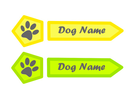 Identity tag for dog. Vector