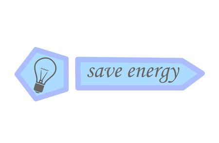 eco slogan: Ahorre energ�a - ilustraci�n vectorial.
