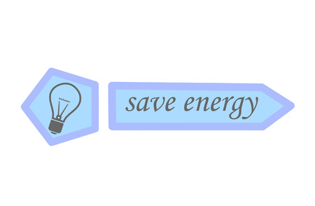 eco notice: Save energy - vector illustration.