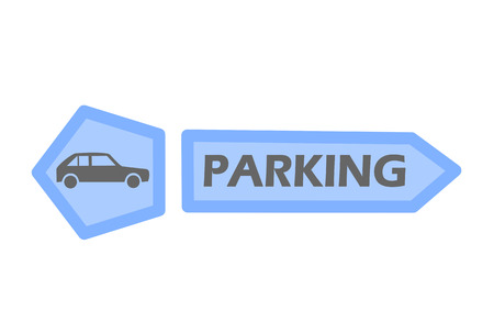 voiture parking: Parking tag