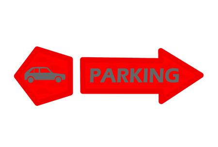 voiture parking: signe de stationnement de voitures
