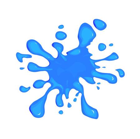 rnabstract: Blue splodge Illustration