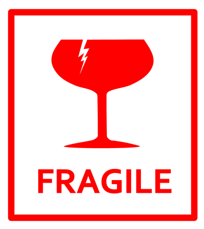 fragile: Fragile sign Illustration