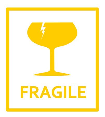 shipped: Fragile sign Illustration