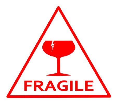 Fragile red sign
