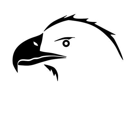 wildlife conservation: Eagle face silhouette