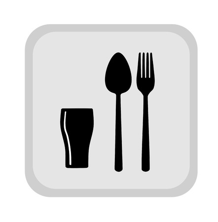 food industry: Sign with spoon, fork and glass