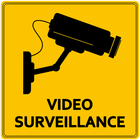 private viewing: Video surveillance sign