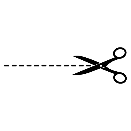 The scissors icon 向量圖像