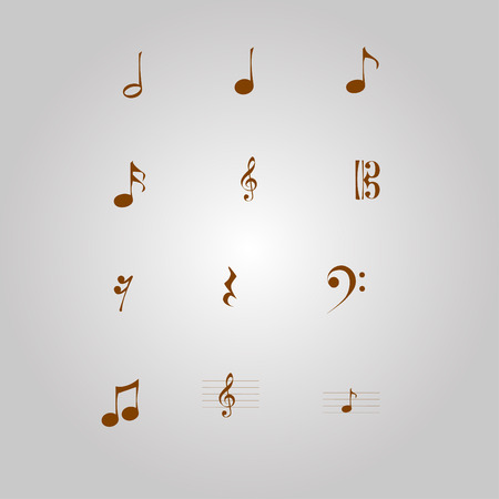 Vintage musical notes Illustration