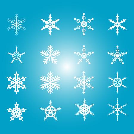 ice surface: snowflakes Illustration