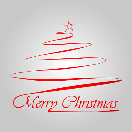 Christmas tree with lettering Illustration
