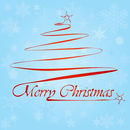 sylvester: Christmas tree with lettering Illustration