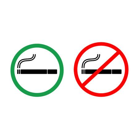 designate: No smoking and smoking area signs