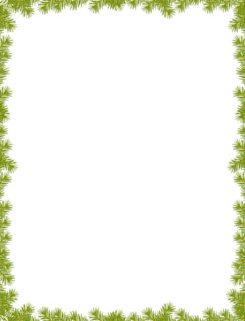 spruce: Border with spruce branch