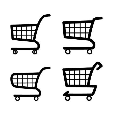 web shopping: Shopping cart icon set