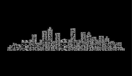 housebuilding: city ??at night Illustration