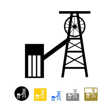 Coal mining icon