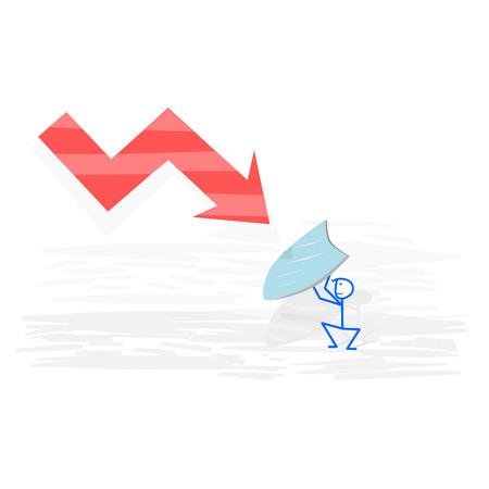 crisis economica: Intento del hombre para luchar contra la crisis económica