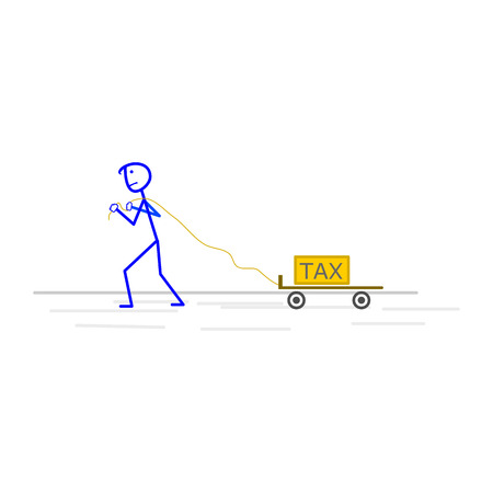 debtor: Tax time and taxpayer finance concept Illustration