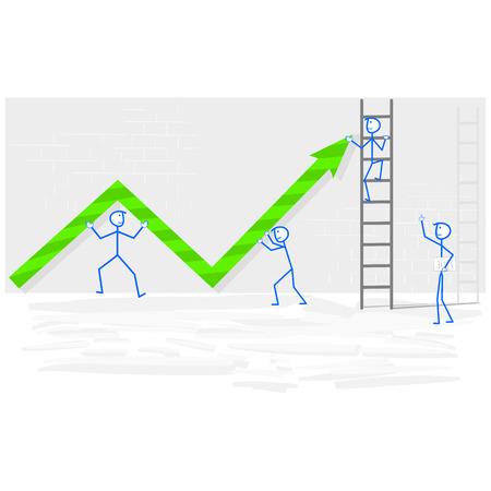 Vector teamwork concept illustration Illustration