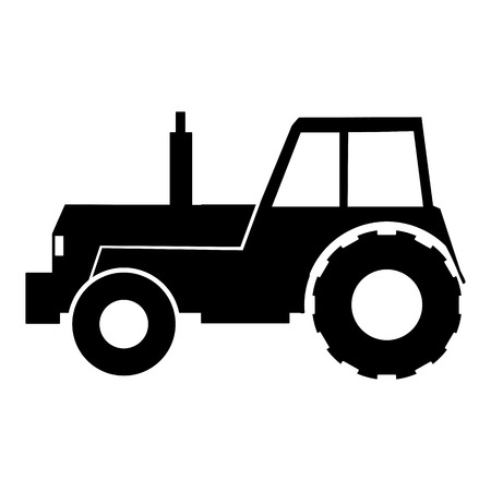 Tractor vector icon. Illustration