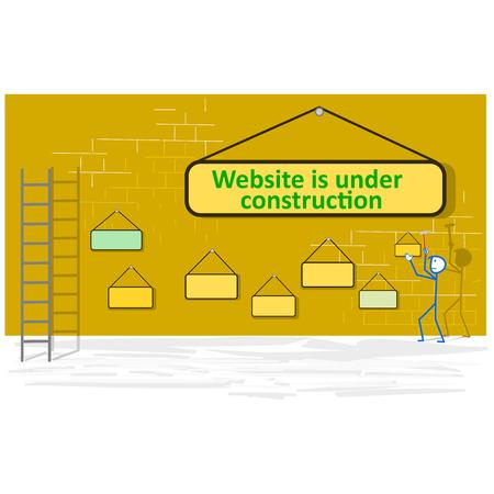 Website under construction page - vector illustration