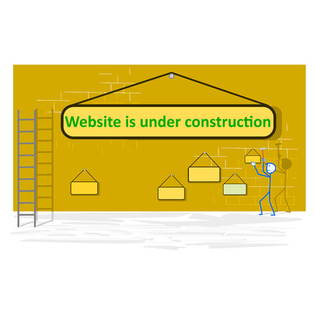 Website under construction page - vector illustration