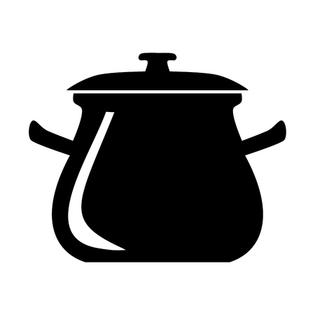 Cooking pot vector icon 일러스트