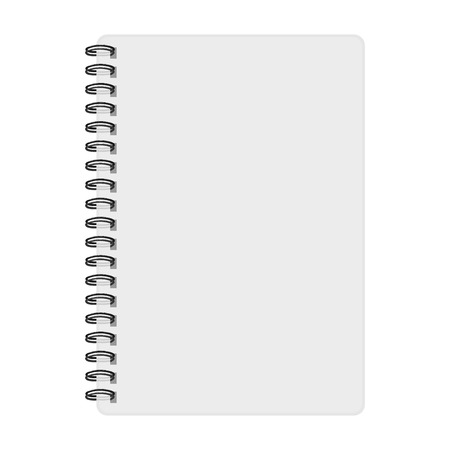 Notebook mockup, with place for image, text or other details. Vector illustration Illustration