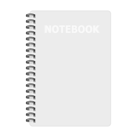Notebook mockup, with place for image, text or other details. Vector illustration Ilustracja
