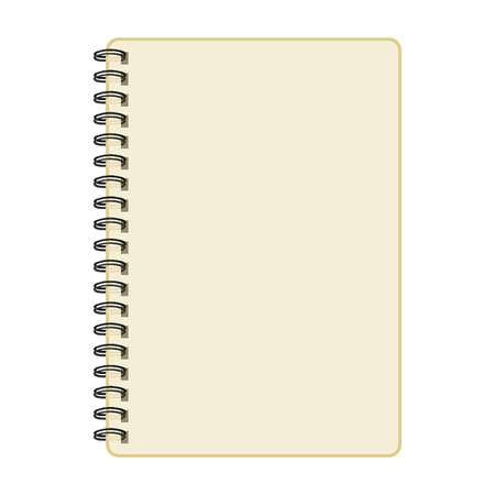 Notebook mockup, with place for image, text or other details. Vector illustration 일러스트