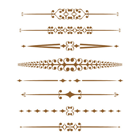 Decorative elements and page decoration. Vector set