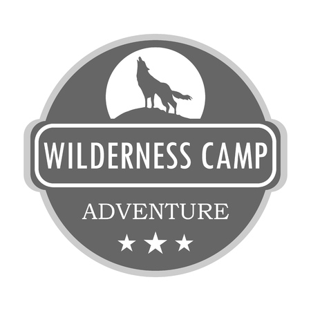 Wilderness camp illustration, outdoor adventure. Vector graphic for t-shirt and other uses
