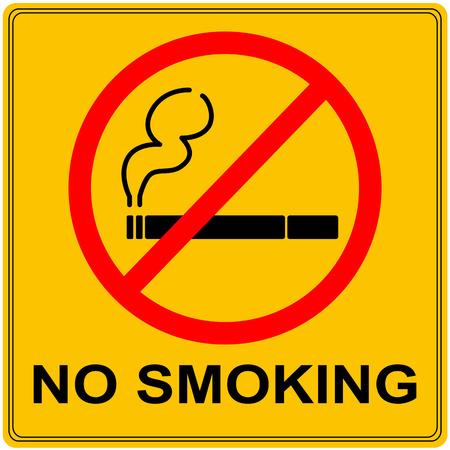 No smoking orange sign. Vector graphic