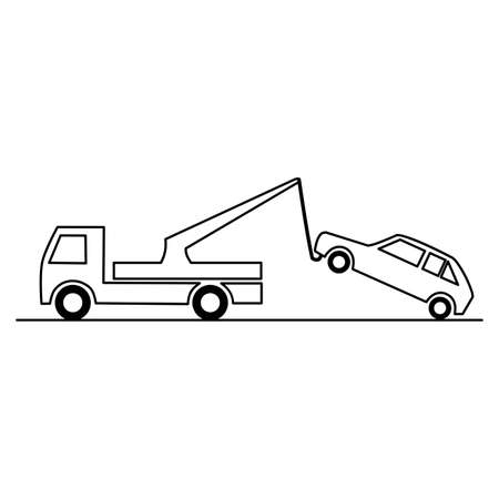 Traffic sign - no parking, tow away zone sign Ilustración de vector
