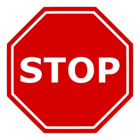 Stop sign with stop notice. Vector image