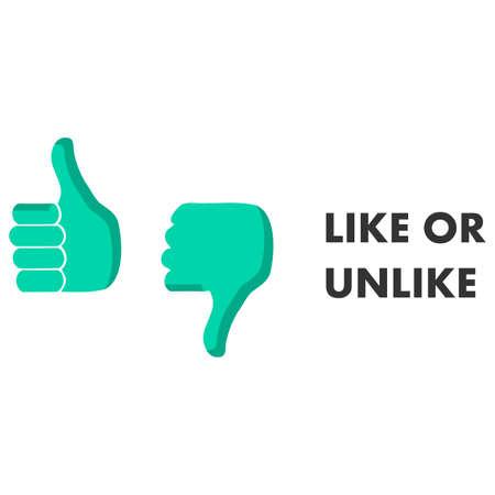 Like or dislike mark Illustration
