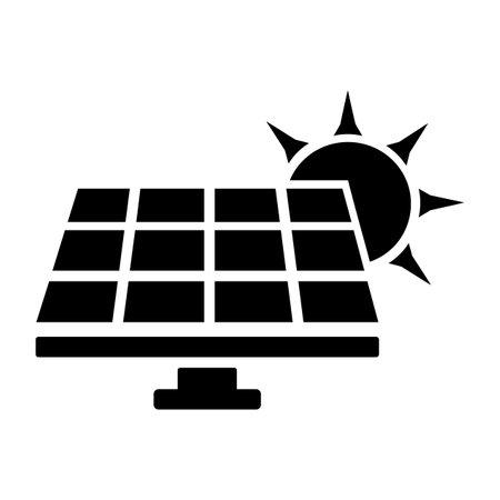 Heat pump icon isolated on white background Illustration