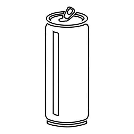 Can icon. Simple illustration of can vector silhouette