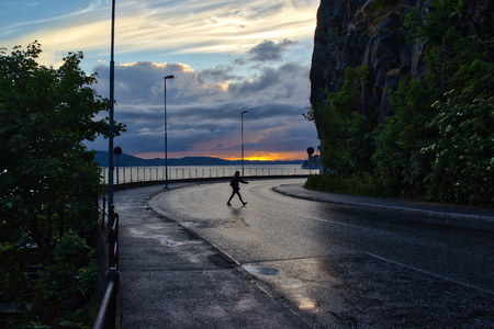 turn about: Evening coastal road