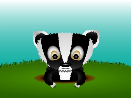 Little badger Vector