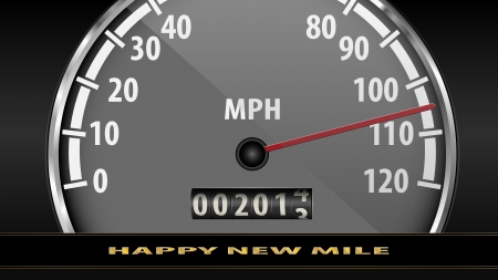 speedmeter: Happy New Mile Illustration