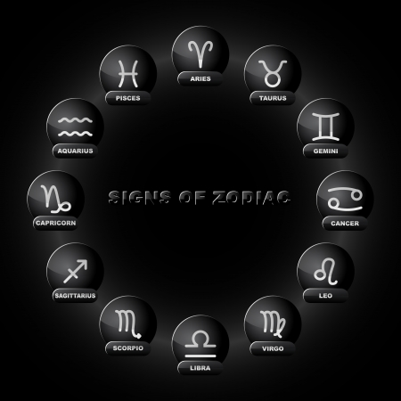 zodiac background: Signs of zodiac