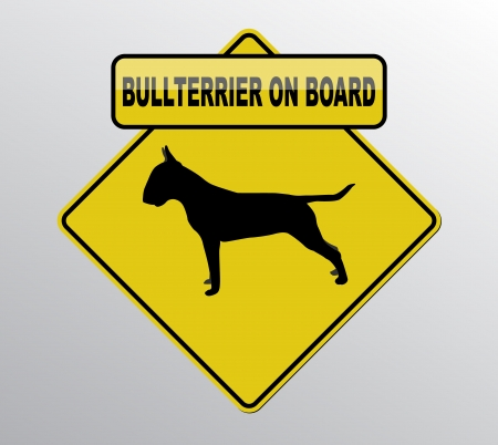 Bullterrier on board Vector