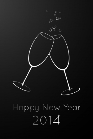 Happy New Year vector card Vector