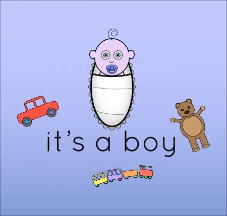 it s a boy: It s a boy Illustration