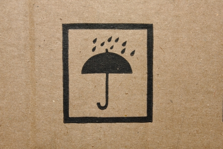 dampen: Icon of a cardboard box