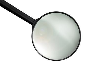 Isolated loupe isolated on white background Standard-Bild